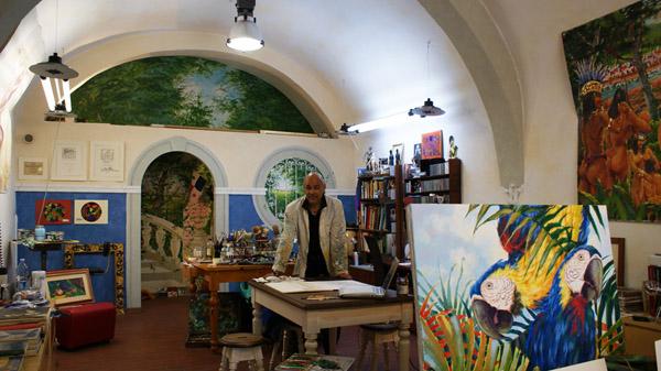 David Vega in studio