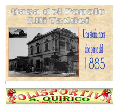 Casa del Popolo F.lli  Taddei   SMS San Quirico