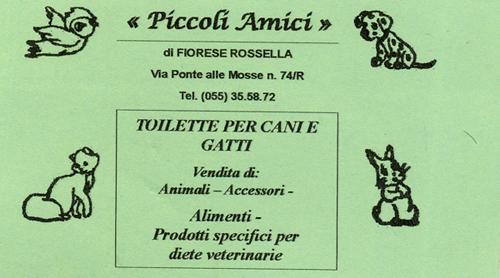 Piccoli amici toilette cani gatti vendita alimenti prodotti specifici