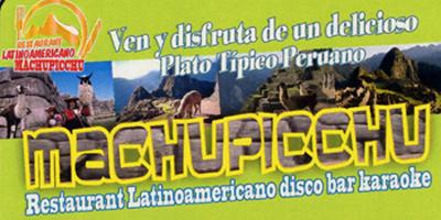 machupicchu ristorante latinoamericano discobar karaoke