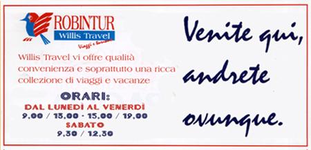 willis travel robintour agenzia viaggi