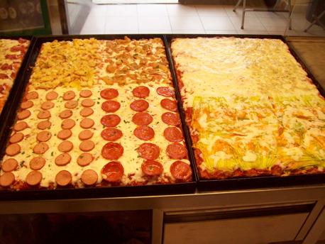 pizza a taglio e cecina