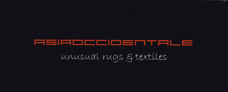 ASIAOCCIDENTALE unusual rugs e textiles