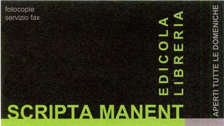 Edicola Libreria SCRIPTA MANENT