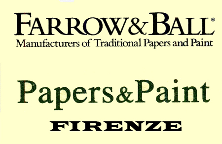 FARROWS e BALL - PAPERS e PAINT Firenze